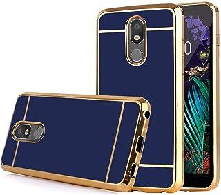 LG Arena 2 Case, LG Escape Plus/LG K30 2019 / LG Journey LTE/LG Tribute Royal Case, Electroplate Slim Glossy Finish, Drop Protection, Shiny Luxury Case - Royal Blue Gold