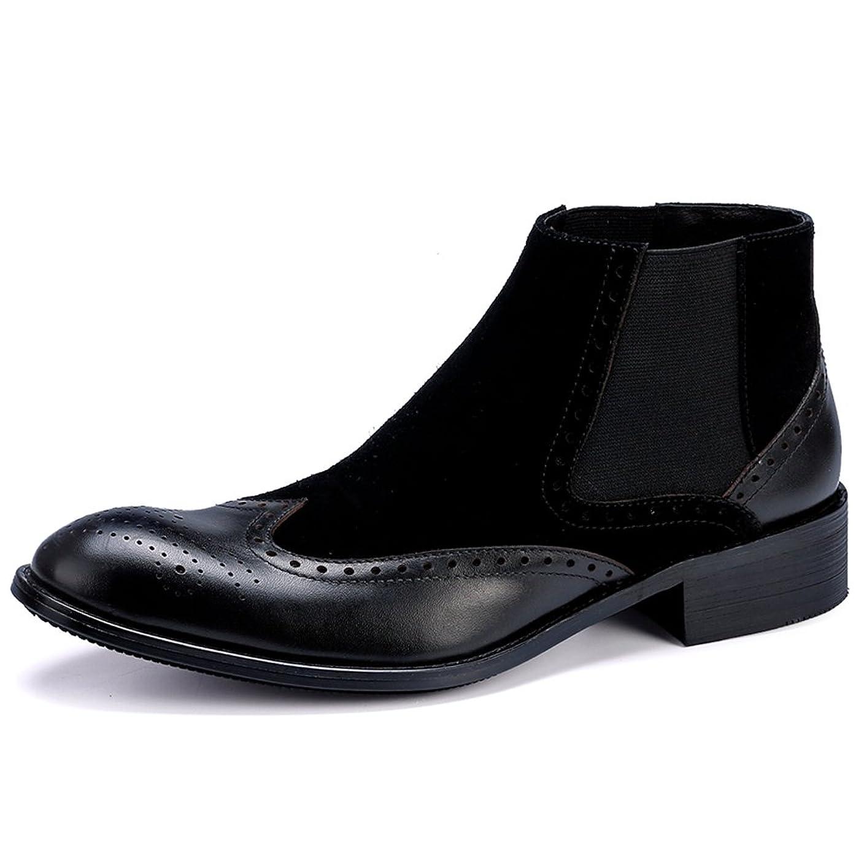 ブロックするずっと振動させるWEWIN ブーツ ビジネスシューズ チェルシーブーツ サイドゴア メンズ ウイングチップ 本革 革靴 ファッション ラグジュアリー ブラック ブラウン