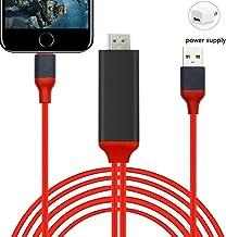 Adaptador HDMI compatible con iPhone iPad, 6.6 pies digital AV HDMI Conector compatible con 1080P HDTV