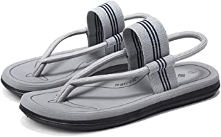 ZUOMAメンズ スリップフロップ ビーチサンダル 履き方2種類 スリッパ ホームウエア ファッション 潮流 バレエシューズ