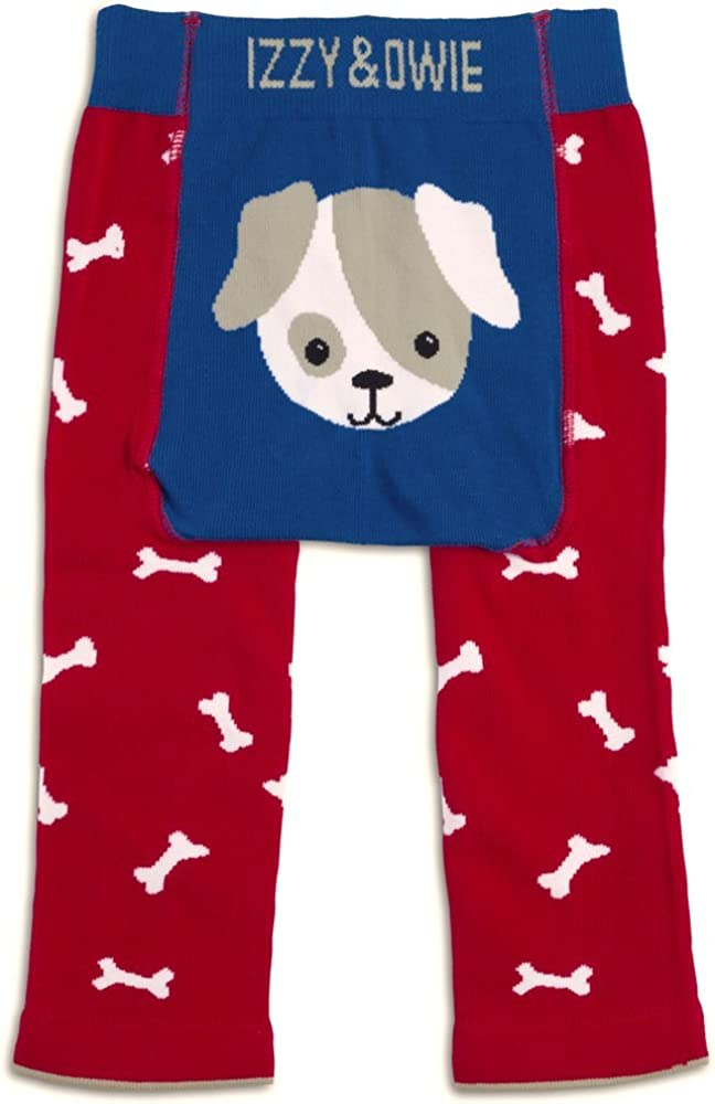 Izzy & Owie Baby Boy Leggings Dog, 6-12 Month, red, 6-12 M
