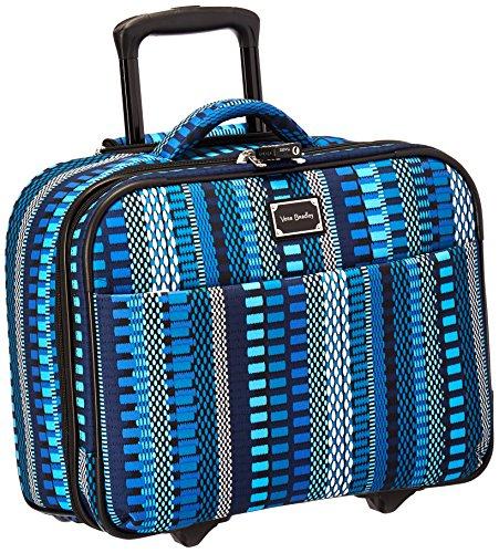 Vera Bradley Women's Softside Rolling Work Suitcase, Cha-Cha Blue