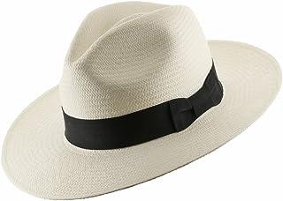 176aae65ebb Ultrafino Classic Fedora Straw Panama Hat Handwoven in Ecuador IVORY