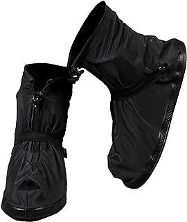 VXAR Rain Shoes Covers Snow Boots Waterproof Overshoes Women Men (Black 3XL)
