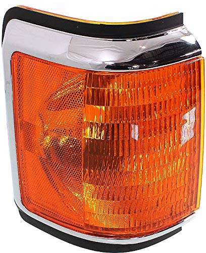 Corner Light Compatible with 1987-1991 Ford F-150 Plastic Amber Lens Passenger Side