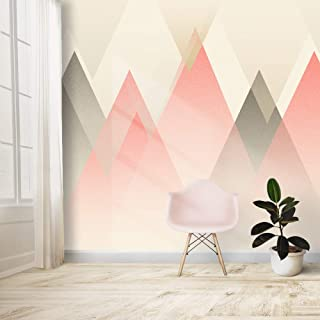 wall26 Wall Mural Nordic Style Gray and Pink Removable Self-Adhesive Large Wallpaper - 66x96 inches