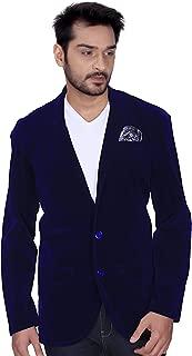 Kandy Men's Regular Fit Velvet Blazer