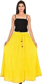 Generic Women'S Yellow Skirts(Jiskrt-125_Yellow_42W X 40L)