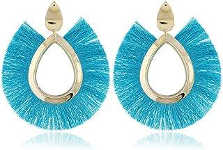 OETY Bohemian Jewelry Big Tassel Drop Earrings For Women Lady Female Fringe Handmade Fashion Woman Earring