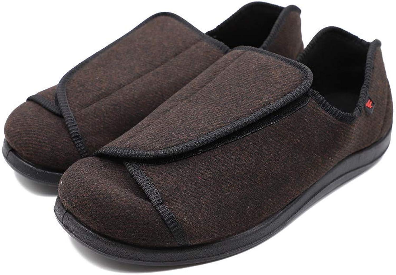 Men's Extra Wide Adjustable Diabetic Recovery Slippers, Arthritis Edema Swollen Feet Footwear Indoor Outdoor Walking shoes