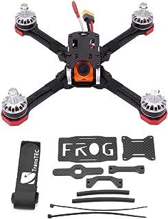 Hockus Accessories TransTEC Frog V2 218MM FPV Racing Quadcopter Drone Carbon Fiber Frame Kit RC Quadcopter Frame RC Accessory - (Color: As Shown)