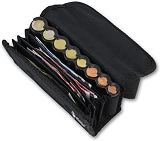 Efftivo 10575 Porte-Monnaie avec Distributeur de pièces et Sangle de Transport Noir