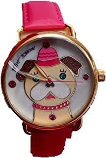Betsey Johnson BJ00212-19 crystal-accented Mother of Pearl Dog Fuchsia Watch