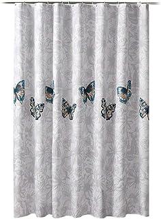 Mariposa Ancho Grande Plato de Ducha Cortinas de baño con 12 Ganchos de Cortina Impermeable Bañera Baño Cubierta (Color : ...