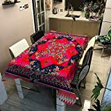 Mantel Lavable de Moda a Rayas, Cubierta de Mesa Impermeable y a Prueba de Aceite, Adecuado para Cocina, Comedor, Mesa de Centro M-4 140x200cm