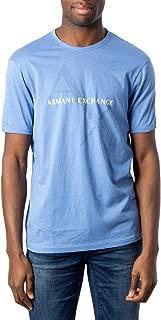 A|X Armani Exchange Men's Crew Neck Logo Tee, Riviera, XL