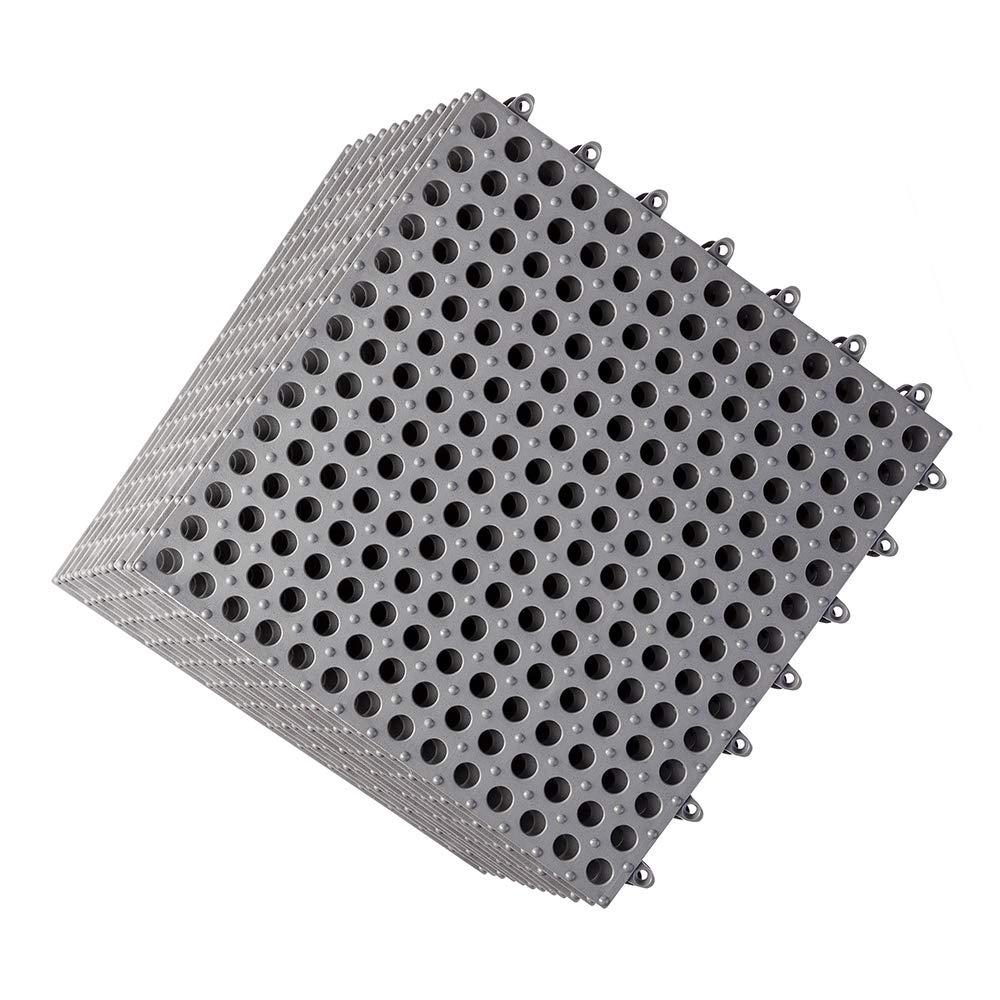 12Pcs Interlocking Soft PVC Floor No-Slip Tiles Bat Max 55% OFF 25% OFF Pool Shower