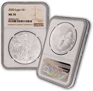 2020 Silver American Eagle MS-70 NGC by CoinFolio $1 MS70 NGC
