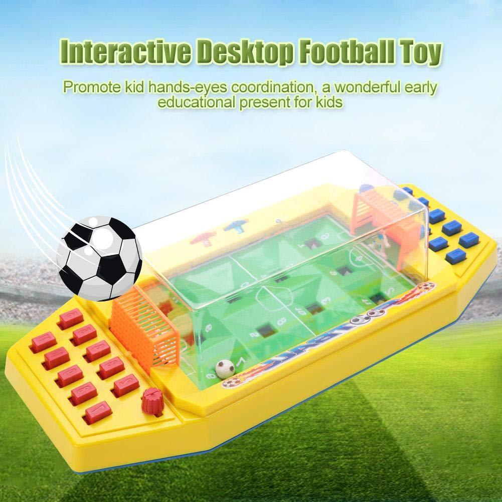 Juguete de fútbol de Mesa, Futbolin Foosball Juguete de fútbol Interactivo para Escritorio, Juego de Dos Jugadores de fútbol para los niños de los niños(Yellow): Amazon.es: Juguetes y juegos