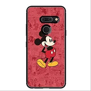Cell Phone Case Fit for LG G8 ThinQ [6.1-Inch] Cartoon Classic Disney Icon Mickey Mouse Old Oldie Red Ringtones and Wallpapers