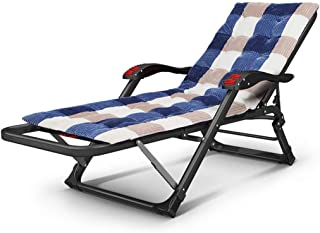 Folding Deck Chair Bedroom Living Room Balcony Garden Beach Office Nap Chair Camping Bed Portable Travel Recliner Pregnant Woman Recliner,B
