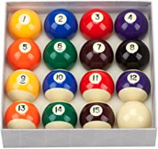 GSE Games & Sports Expert 2 1/4-Inch Professional Regulation Size Billiards Pool Ball Complete Set