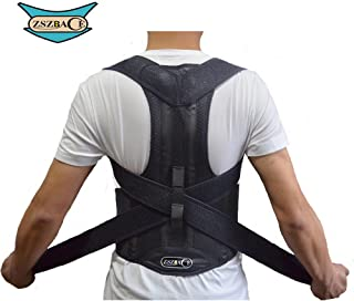 ZSZBACE Back Brace Posture Corrector Clavicle Support Brace Medical Device to Improve Bad Posture, Thoracic Kyphosis, Shoulder Alignment, Upper Back Pain Relief for Men and Women