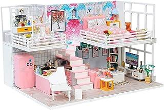 ドールハウスミニチュアDIYハウスキット、手作りの教育玩具建築モデル誕生日プレゼント - 美しい日記