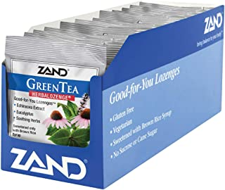 Zand HerbaLozenge Green Tea | Echinacea & Eucalyptus Lozenges w/Soothing Throat Herbal Blend | No Corn Syrup or Cane Sugar...