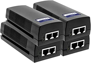 BV-Tech Single Gigabit Port Power Over Ethernet PoE Injector – 30W – up to 100 Meters (325 Feet) (4 Pack)