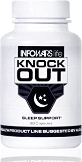 Infowars Life - Knockout Sleep Support (30 Capsules) – Natural Sleep Aid with Melatonin, Valerian, Chamomile & More to Fall Asleep Faster & Stay Asleep