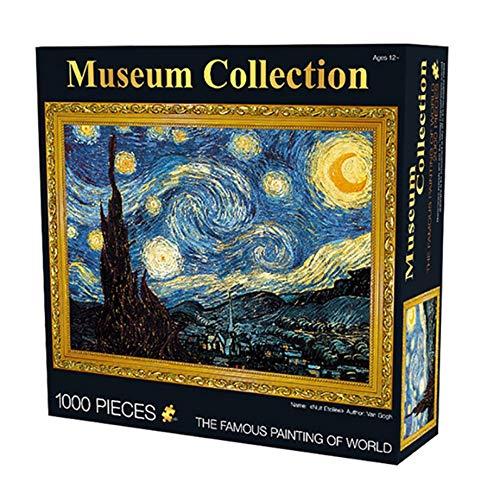 CZYSKY Rompecabezas para Adultos 1000 Piezas Pintura De Fama Mundial Van Gogh Starry Youth Puzzle Rompecabezas De Papel Juguete De Descompresión