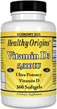 Vitamina D D-3 5000 IU (360 Softgels) - Healthy Origins