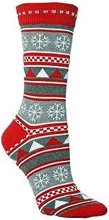 Clhbaih, Calcetines de Navidad Moda Socks de Navidad Santa Claus Regalo Niños Unisex Navidad Calcetines Divertidos para Lady Mujeres Santa Medias 2020 (Color : Pattern C, Product Size : Free Size)