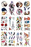 10 sheets tucan lion dreamcatcher fox temporary tattoo wholesale for sale Halloween skin art