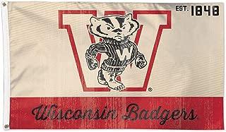 Wisconsin Badgers Vintage Creme Flag 3' x 5'