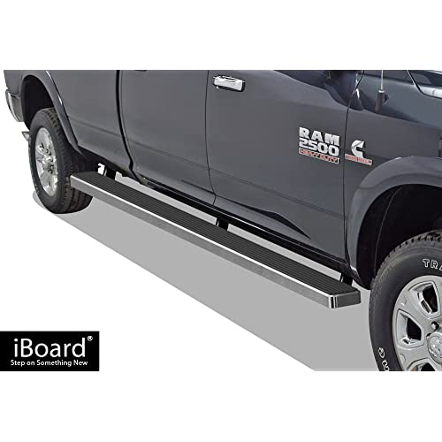 APS 5in Wheel-to-Wheel Nerf Bars Custom Fit 09-18 Ram Crew Cab 6.5ft Bed