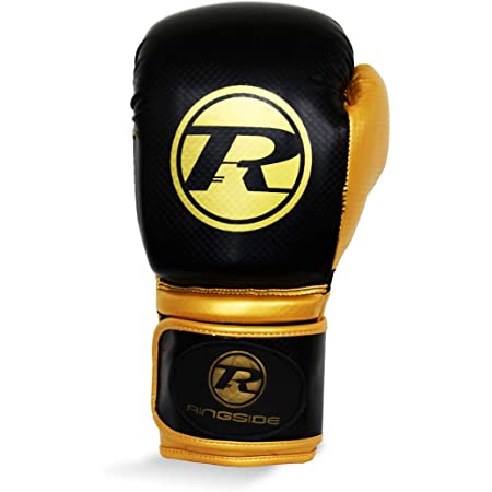Ringside Boxing Pro Fitness Glove Synthetic Leather Glove Metallic White//Black//Gold