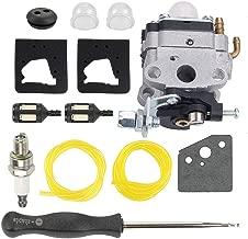 Hayskill 753-1225 Carburetor w Spark Plug Fuel Filter Line for Troy-Bilt TB475SS TB575SS TB146EC TB525CS TB590BC TBE515 TB26TB Gas Trimmer Carb