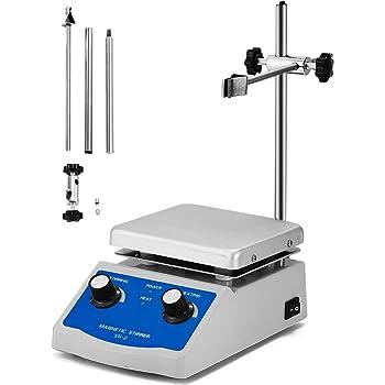 M/élangeur dagitateur magn/étique 2000ML VEVOR Laboratoire Agitateur Magn/étique SH-2 220V avec Barre dagitation de Plaque chauffante 12x12cm et Support