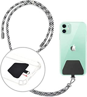 takyu Phone Lanyard, Universal Cell Phone Lanyard with Adjustable Nylon Neck strap, Phone Tether Safety Strap Compatible with Most Smartphones with Full Coverage Case (Zebra)
