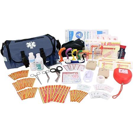 EverOne Emergency Response Trauma First Responder Kit Fully Stocked, Navy Blue