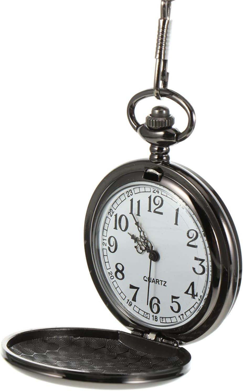 ifundom Reloj de Bolsillo Vintage con Collar Portátil Cadena de Metal Reloj de Bolsillo Colgante del Día del Padre Suministros de Regalo (A Mi Mejor Papá)