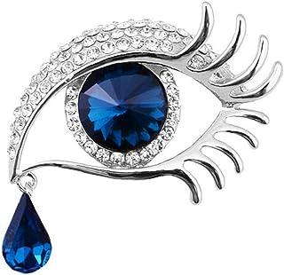 Lacrima di Angel Strass Spilla Pin Coperto Sciarpe Wedding Scialle della Clip della Signora Women