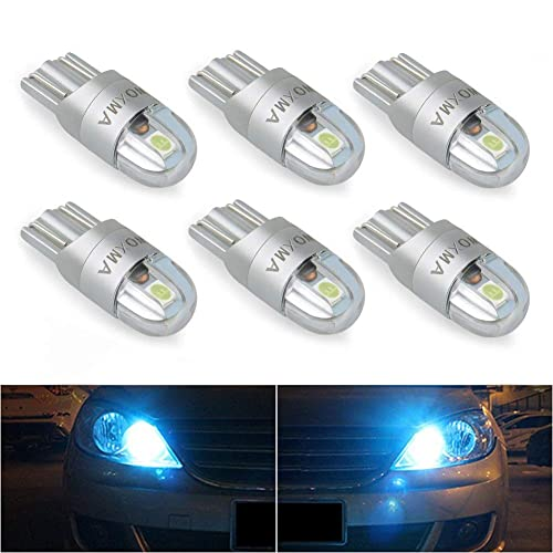 HSUN T10 194 175 161 168 12961 W5W LED Bulbs,12V-24V Extremely Bright 20SMD 3014 Chip Canbus Error Free Car Side Marker Indicator Backup Interior Dome Light,2 Pack,Ice Blue
