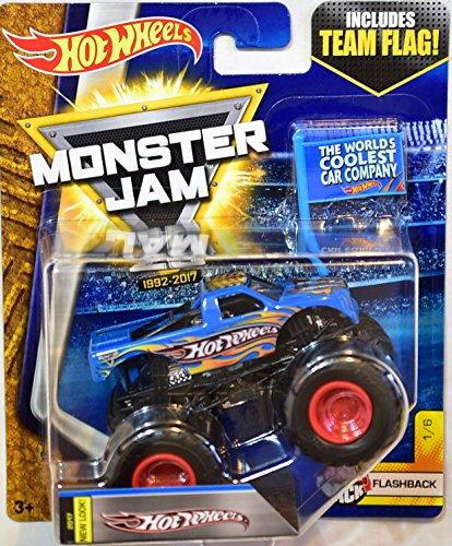 HOT WHEELS MONSTER JAM 2017 TEAM FLAG HOT WHEELS FLASHBACK 1/6 NEW LOOK 2017 ( THE WORLDS COOLEST CAR COMPANY)