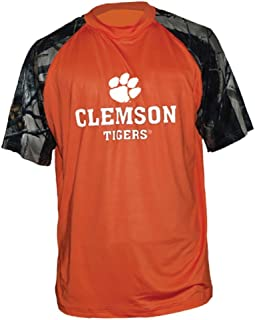 CLEMSON TIGERS ACC T-SHIRT ORANGE & CAMO TRIM BY TRUE TIMBER OUTDOORS NWT $24.99 RETAIL (LARGE)