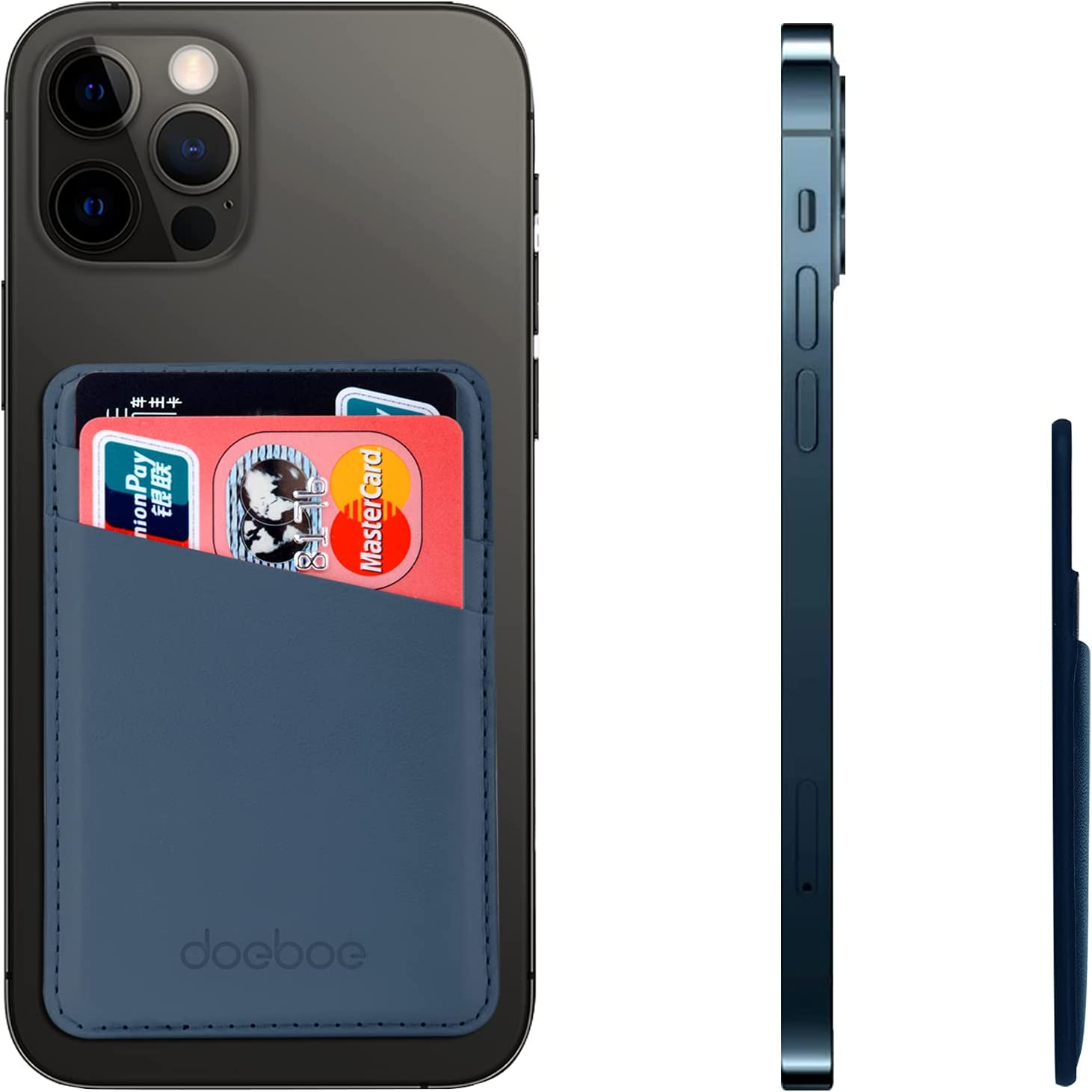 Max 75% OFF doeboe Leather Phone Card Holder Memphis Mall of for Back Credit