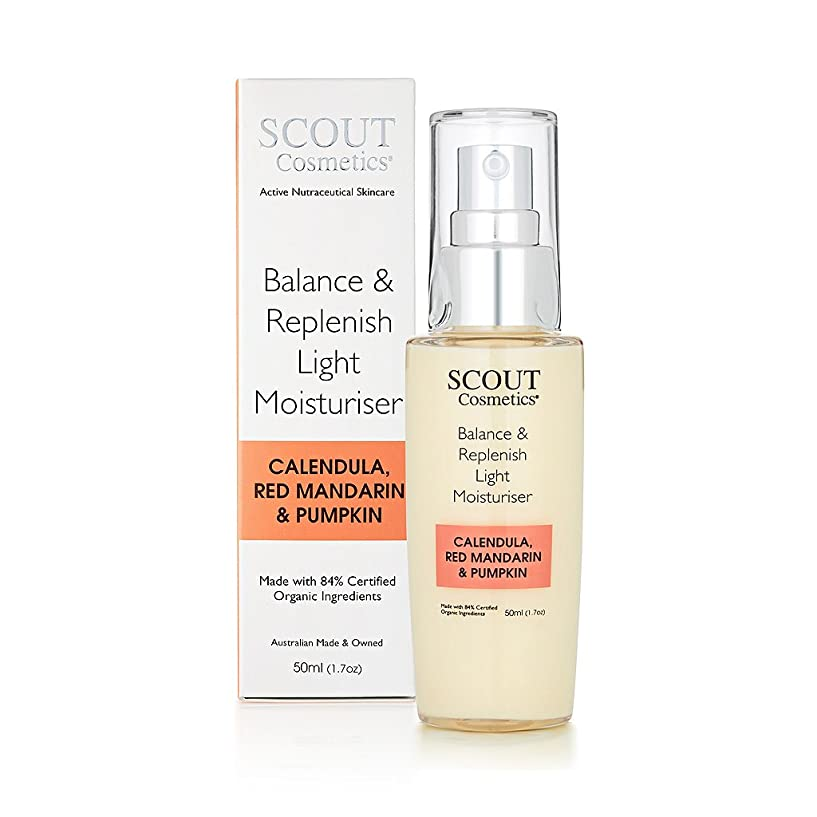 キロメートル標準ソースSCOUT Cosmetics Balance & Replenish Light Moisturiser with Calendula, Red Mandarin & Pumpkin 50ml/1.7oz並行輸入品
