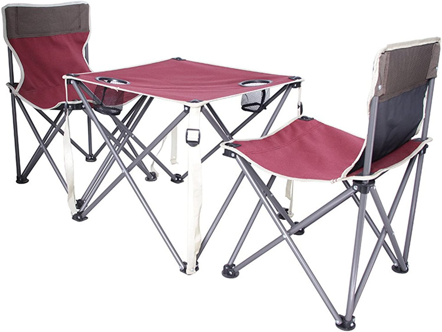 Outdoor Folding Three Pieces of Camping Tables and Chairs,Versatility